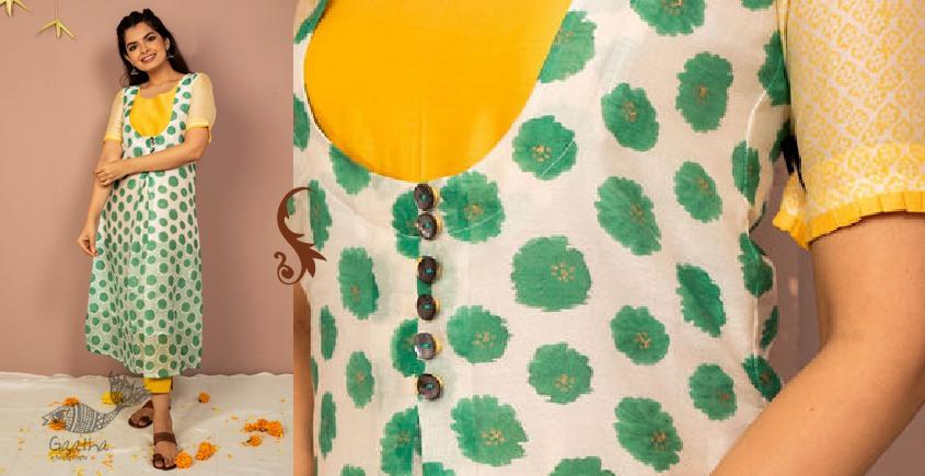 उत्सव  ✻ Chanderi silk Block Printed Kurta ✻ 23