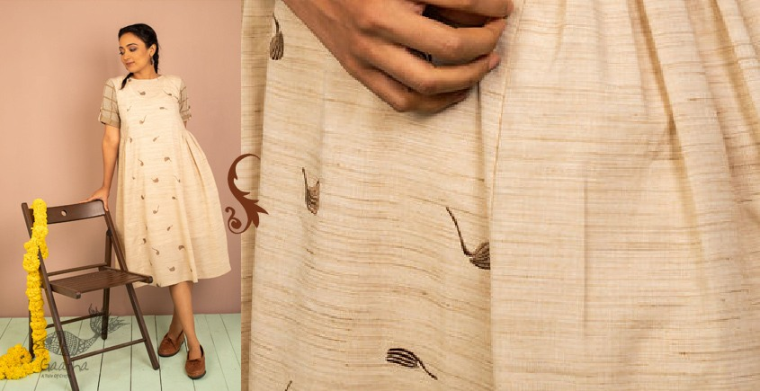उत्सव  ✻ Cotton Chambray Embroidered Dress ✻ 25