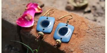 Ochre ~ Ceramic Jewelry Earring {13A}