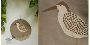 Handmade Ceramic Hanging  - Sand Piper Bird - 4