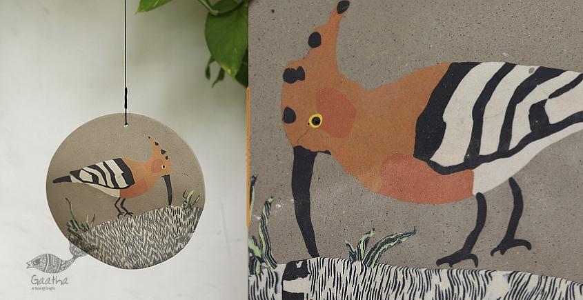 Handmade Ceramic Hanging  - Hoopoe Bird - 5
