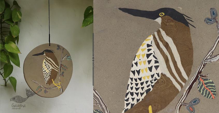 Buy Ceramic wall hanging by Kavita Ganguli | Heron Bird