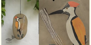 Handmade Ceramic Hanging - Woodpecker Bird - 7