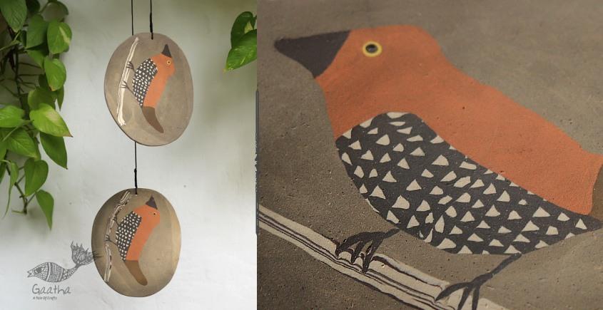 single chimes - Munia ( Lonchura ) Birds in two hanging chimes