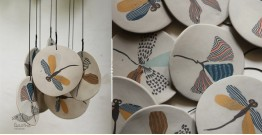 Handmade Ceramic Chimes - ( Dragonfly ) 12