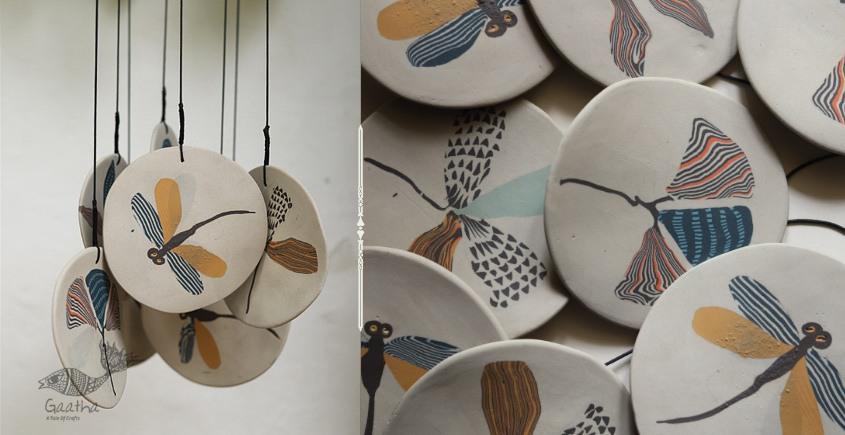 Handmade Ceramic Chimes - ( Dragonfly ) 12