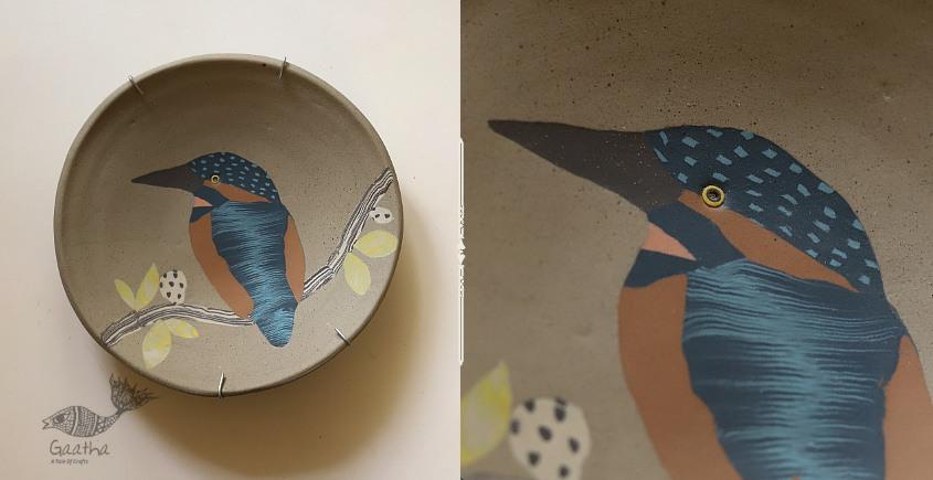 Handmade Ceramic Wall Plate - Kingfisher