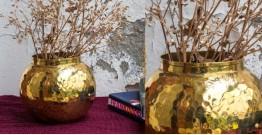 """Virasat ❋  Copper . Round Vase (3.5"""" x 3.5"""" x 5.25"""") ❋ 16"""