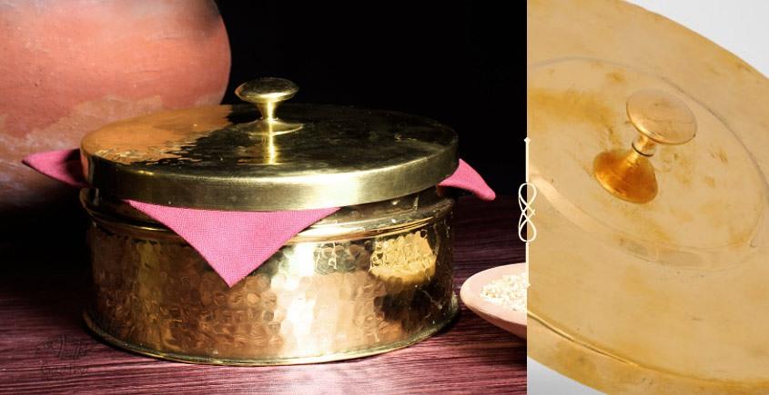 Virasat ❋  Brass . Chapati Box (7 x 7 x 3) ❋ 8