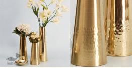 "Virasat ❋  Brass . Frustum Vase (Small - 3"" x 3"" x 9"") ❋ 4"