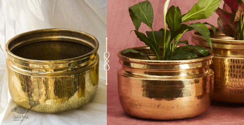 Virasat ❋  Brass . Planter (Large-9 x 9 12) ❋ 1