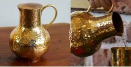 """Virasat ❋  Copper . Round Jug (2.5"""" x 2.5"""" x 6"""") ❋ 18"""