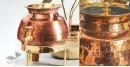 Virasat ❋  Copper . Water Dispenser (Set of Three - Lid, Stand, Dispenser - 10 x 10 x 12.25) ❋ 6
