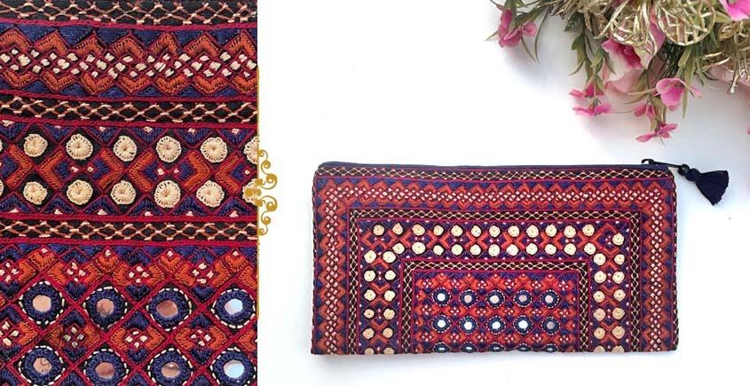 handmade Rabari Embroidered  Classic Clutch 18