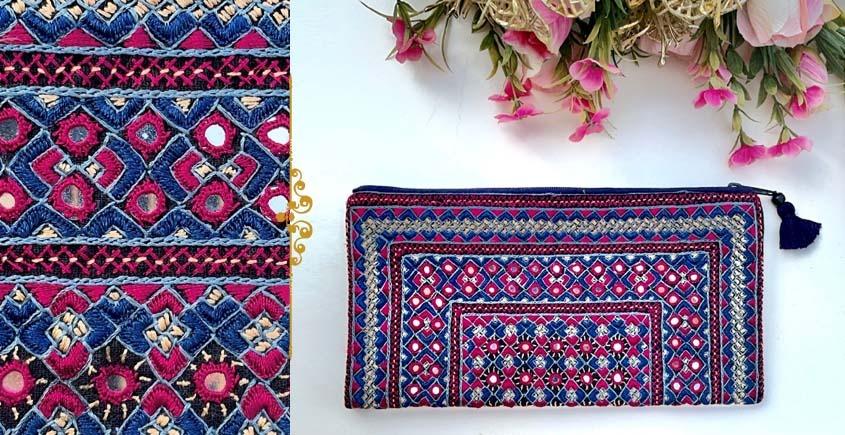 handmade Rabari Embroidered  Classic Clutch 20