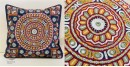 handmade Rabari Embroidered  Cushion Cover