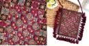 handmade Rabari Embroidered Fringe Mobile Bag 32