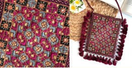 Gunthan ✠ Rabari Embroidered Fringe Mobile Bag ✠ 23