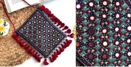 Gunthan ✠ Rabari Embroidered Fringe Mobile Bag ✠ 7