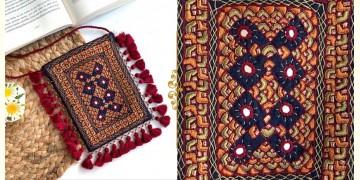 Gunthan ✠ Rabari Embroidered Fringe Mobile Bag ✠ 8