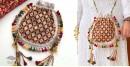 handmade Rabari Embroidered Navrang Potli Sling Bag 14