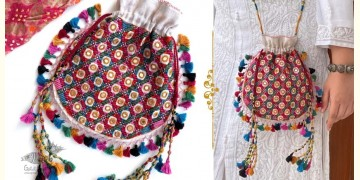 Gunthan ✠ Rabari Embroidered Navrang Potli Sling Bag ✠ 15