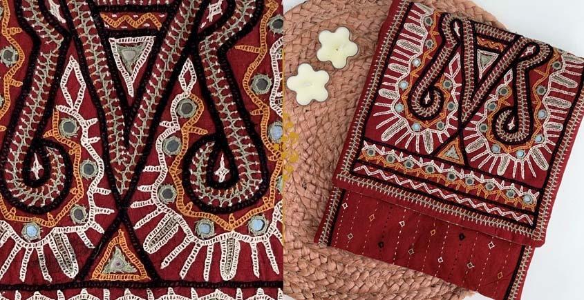 handmade Rabari Embroidered Tablet Sling