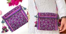 Gunthan ✠ Rabari Embroidered  Tassel Mirror Sling Bag ✠ 12
