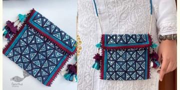 Gunthan ✠ Rabari Embroidered  Tassel Mirror Sling Bag ✠ 13