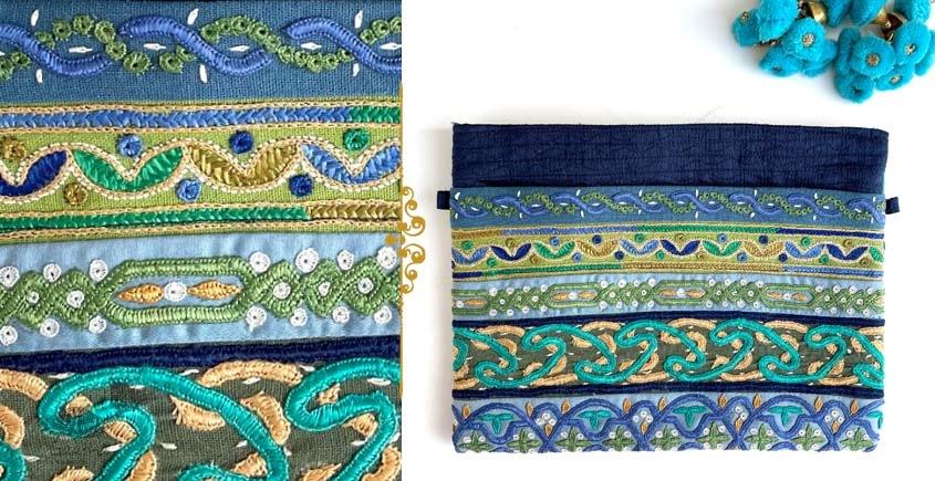 handmade Rabari Embroidered Utility Pouch 16