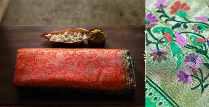 Ashaavali | अशावली ⁂ Gujarati Brocade ⁂ Silk Saree ⁂ 1