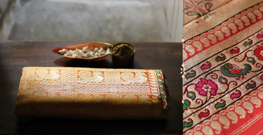 Ashaavali | अशावली ⁂ Gujarati Brocade ⁂ Silk Saree ⁂ 20