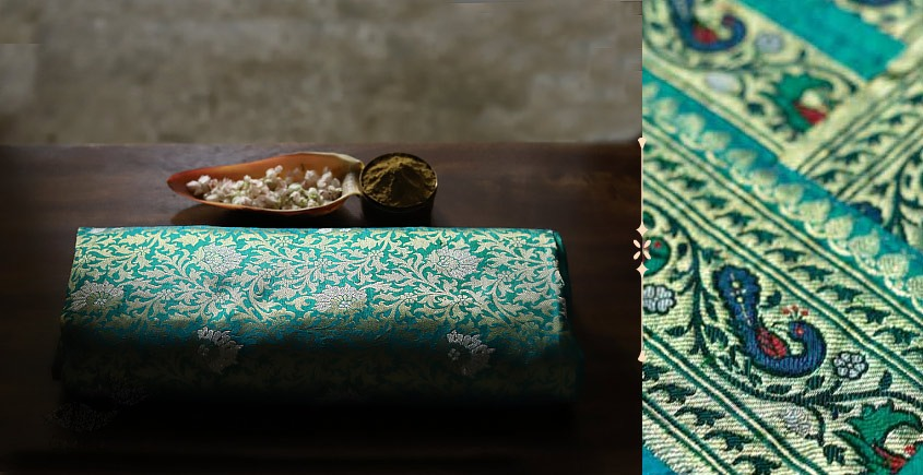 Ashaavali   अशावली ⁂ Gujarati Brocade ⁂ Silk Saree ⁂ 8