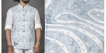 Patratu valley ● Linen Block Printed Jacket ● 12