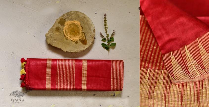 गोपी चंदन ❂ Mulberry Silk Saree with Temple Border ❂ A