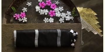 नयनतारा ❂ Tussar Silk with Zari Buta  Saree ❂ Black ❂ 6