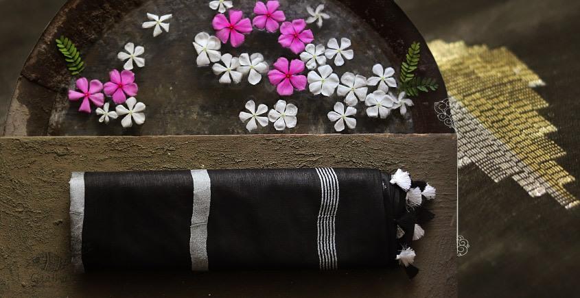 नयनतारा ❂ Kota Tussar Zari Buta Silk Saree ❂ Black ❂ 6