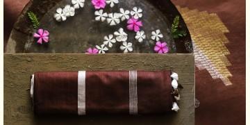 नयनतारा ❂ Tussar Silk with Zari Buta  Saree ❂ Brown ❂ 7