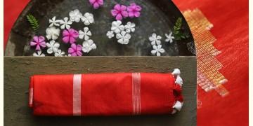 नयनतारा ❂ Tussar Silk with Zari Buta  Saree ❂ Red ❂ 3