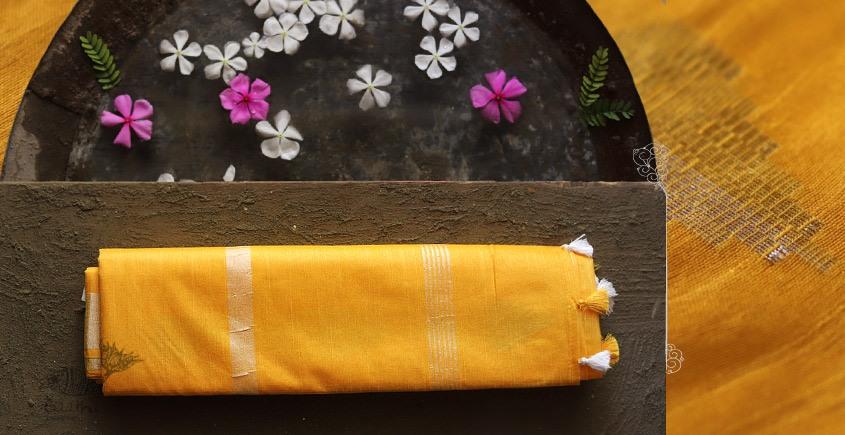 नयनतारा ❂ Kota Tussar Zari Buta Silk Saree ❂ Yellow ❂ 8