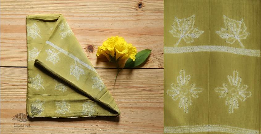 shop online silk shibori Tie & Dye stole green