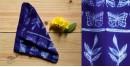 shop online silk shibori Tie & Dye stole - blue color