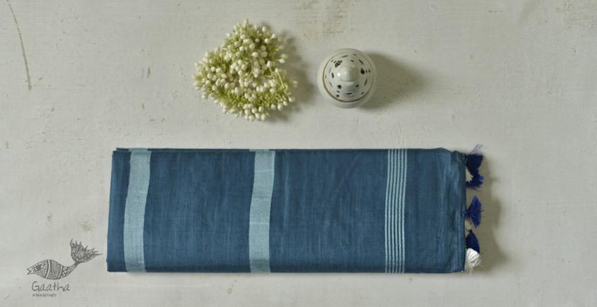 नयनतारा ❂ Kota Tussar Zari Buta Silk Saree ❂ Cerulean Blue ❂ 4