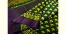shop Mulberry Silk Dabu Printed yellow - purple Saree