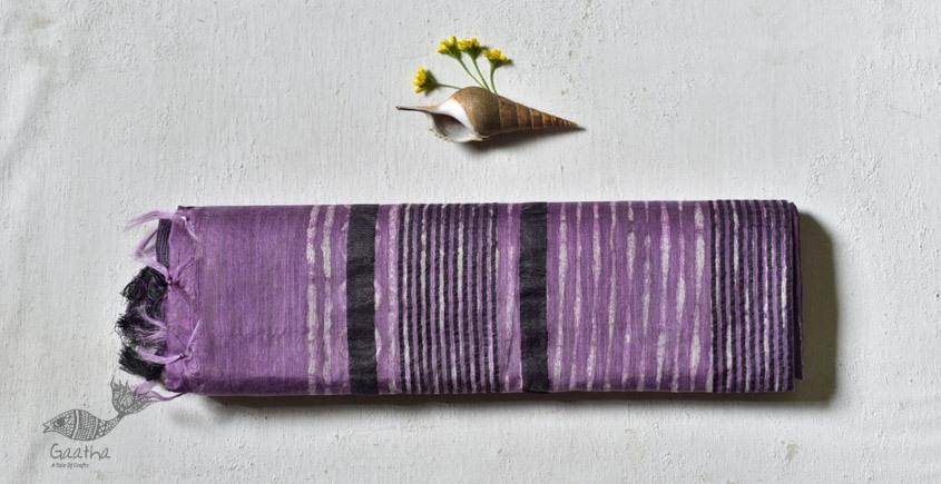 shop Mulberry Silk Dabu Printed purple Saree