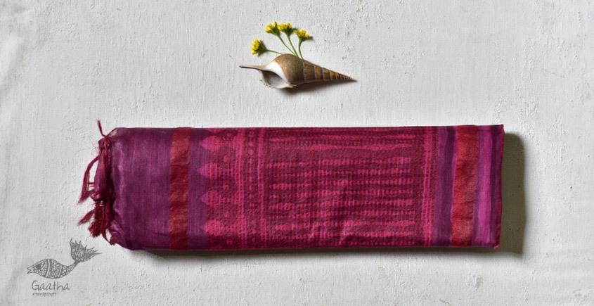 shop Mulberry Silk Dabu Printed Red & Pink Saree