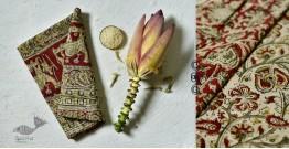 Haripriya .  हरिप्रिया ☘ Block Printed Cotton Saree ☘ Natural Dyed Kalamkari Design ☘ 10