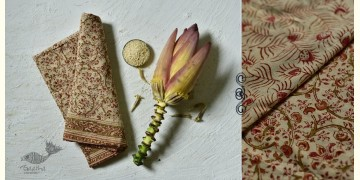 Haripriya .  हरिप्रिया ☘ Block Printed Cotton Saree ☘ Natural Dyed Kalamkari Design ☘ 8