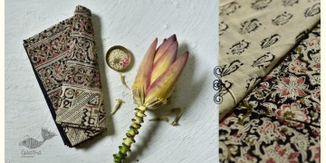 Haripriya .  हरिप्रिया ☘ Block Printed Cotton Saree ☘ Natural Dyed Kalamkari Design ☘ 1