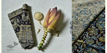 Haripriya .  हरिप्रिया ☘ Block Printed Cotton Saree ☘ Natural Dyed Kalamkari Design ☘ 4